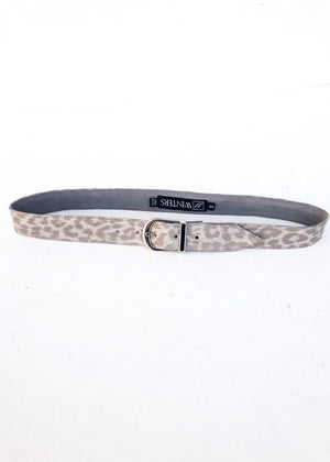 JJ Winters Kacey Belt - Silver Leopard-Hand In Pocket