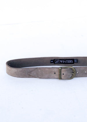 JJ Winters Kacey Suede Belt - Elephant-Hand In Pocket