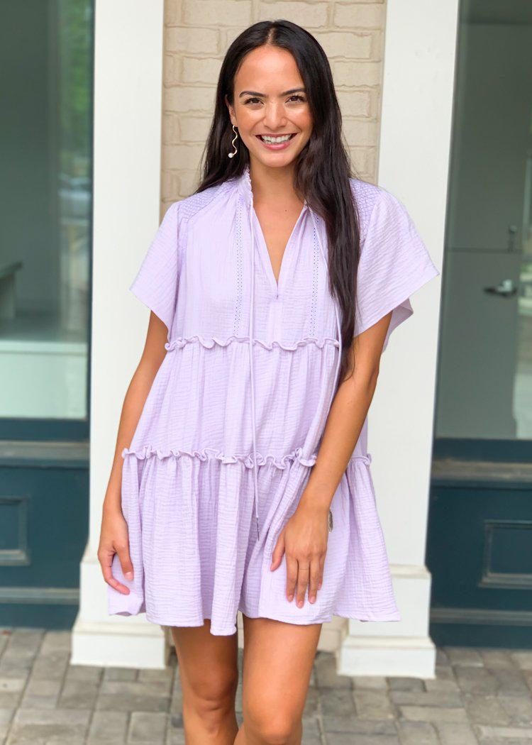 Karlie Wisteria Tiered Dress-Hand In Pocket