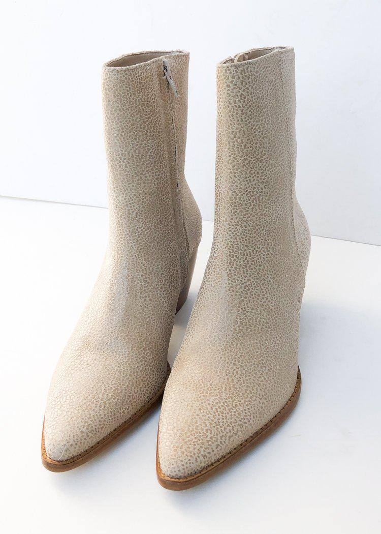 Matisse Caty Bootie- Ivory Leopard-Hand In Pocket
