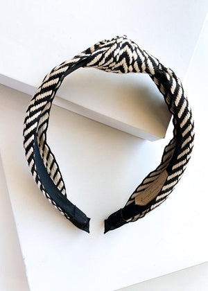 Legzira Chevron Black and White Headband-Hand In Pocket