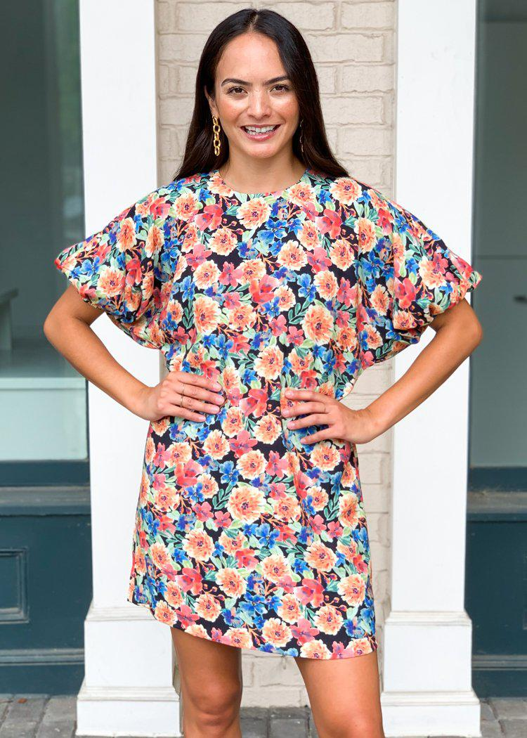 Karlie Poppy Floral Print Shift Dress ***FINAL SALE***-Hand In Pocket