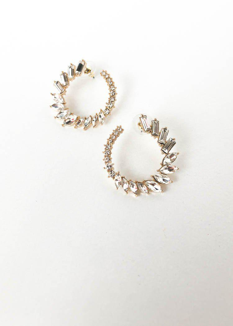Clearly Crystal Hoops - Clear-Hand In Pocket