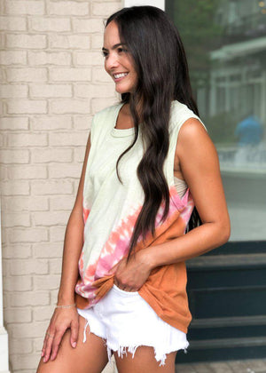 Indio Tie Dye Muscle Tank-***FINAL SALE****-Hand In Pocket