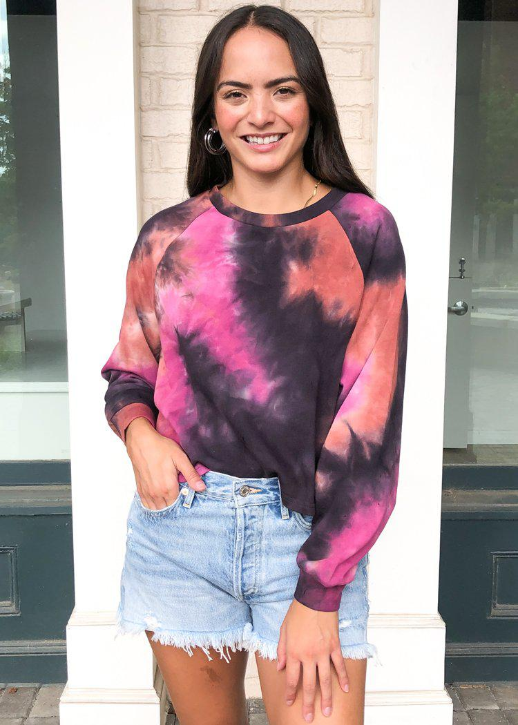 Joni Tie Dye Sweatshirt-Hand In Pocket