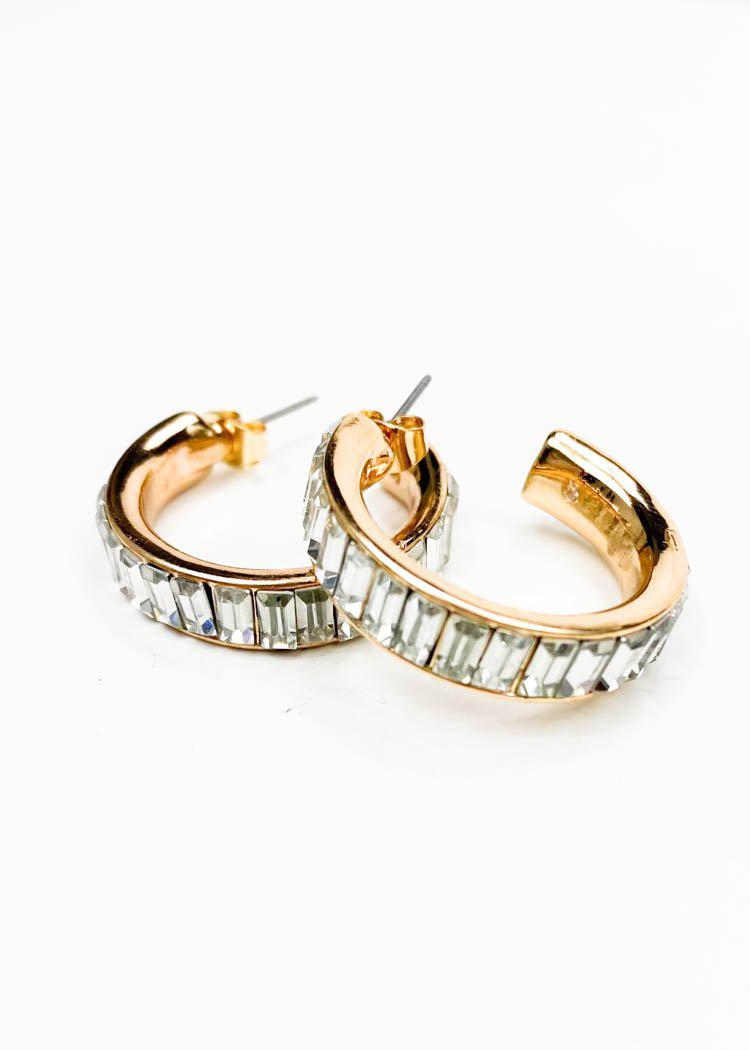 Icy Hoops-Clear/Gold-Hand In Pocket