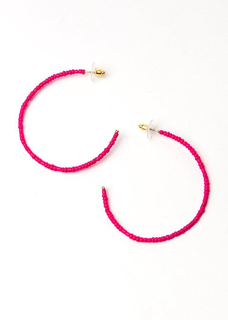 Tropicana Hoops-Hot Pink-Hand In Pocket