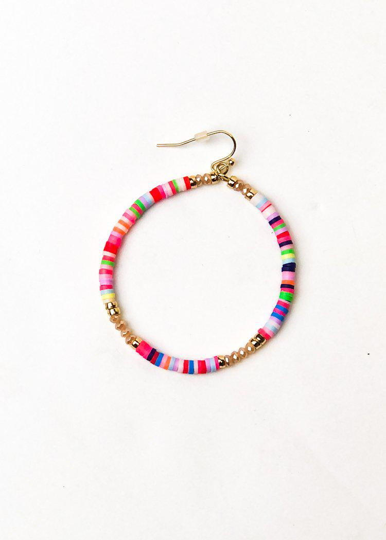 Carnival Beaded Hoop-Hand In Pocket