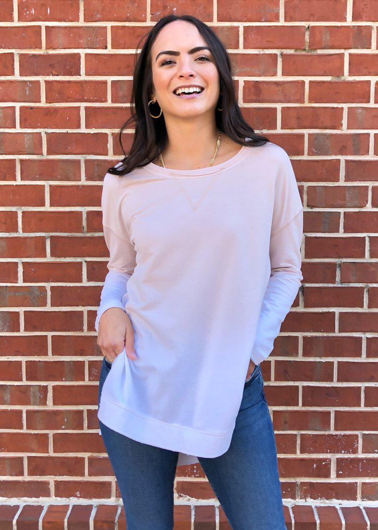 Weekender Pullover Ombre-Oatmeal-Hand In Pocket