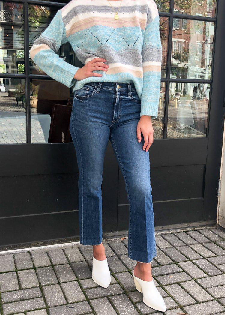 Joe's Jeans The Callie High Rise Cropped Bootcut-Hand In Pocket