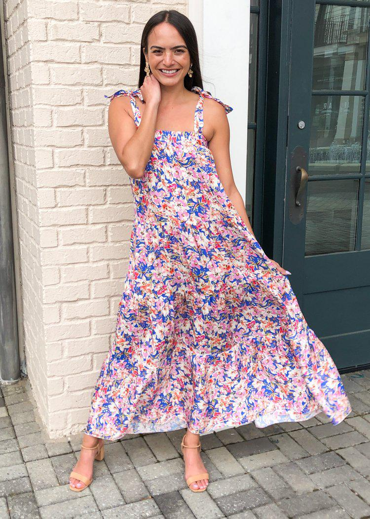 Amira Tiered Floral Maxi-Hand In Pocket