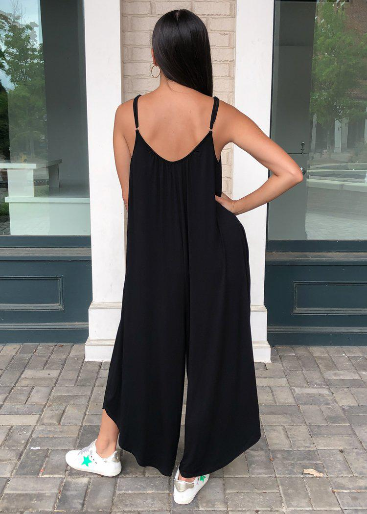 Z Supply The Flared Leg Jumpsuit - Black-Hand In Pocket