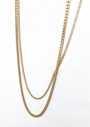 Bracha Gigi Layered Chain Necklace - Gold-Hand In Pocket