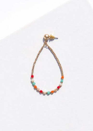 Rockport Beaded Colorful Drop Earrings - Multi-Hand In Pocket