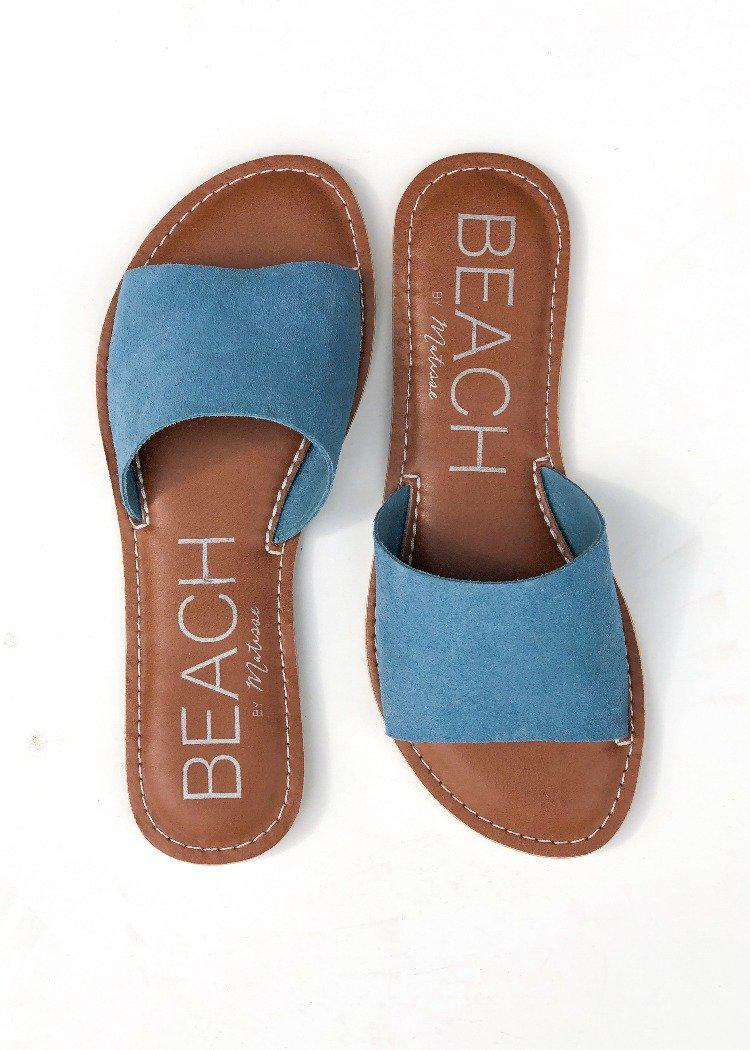 Matisse Cabana Slide - Blue-***FINAL SALE***-Hand In Pocket