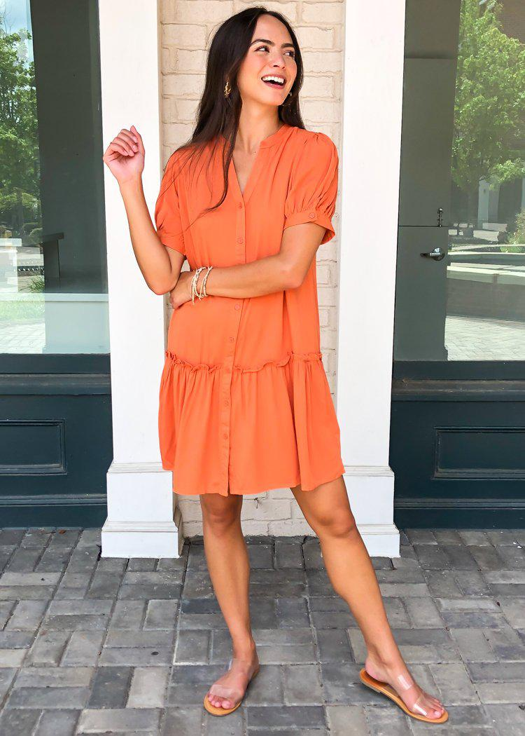Aspen Drop Waist Shirtdress Dress-Hand In Pocket