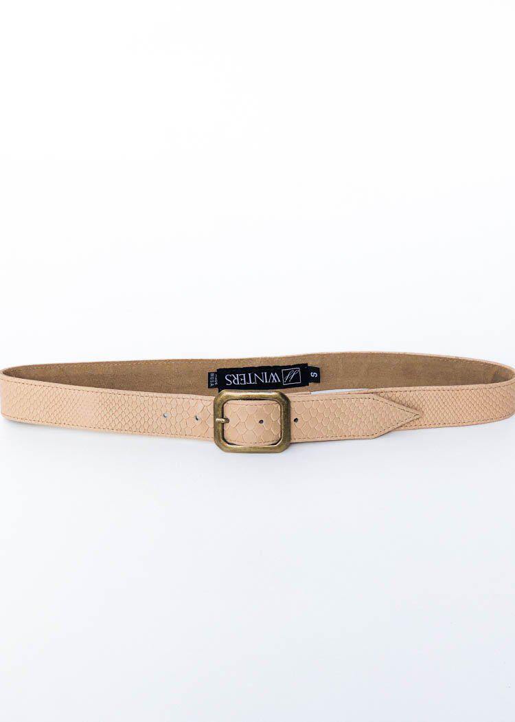 "JJ Winters Kylie ""Boa"" Belt-Beige-Hand In Pocket"