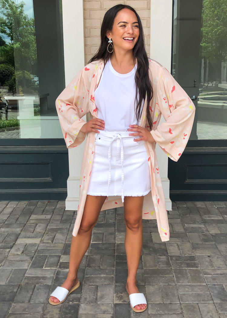 Karlie Lanai Floral Kimono ***FINAL SALE***-Hand In Pocket