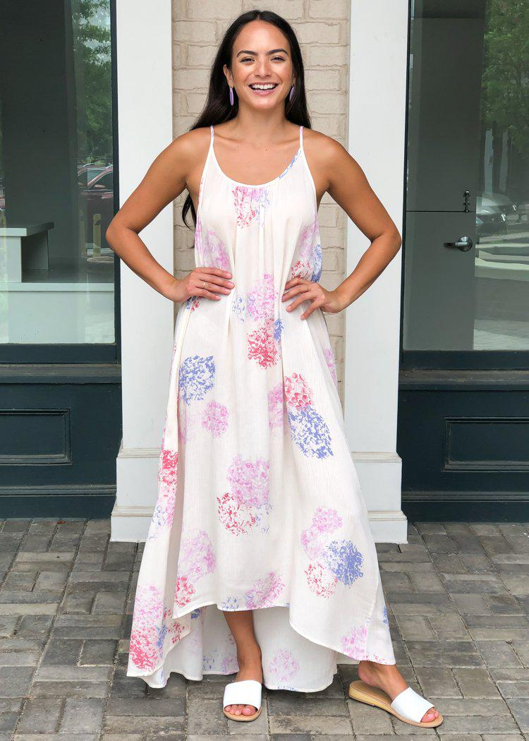 Neptune Hilo Floral Print Maxi Dress - Rose-***FINAL SALE***-Hand In Pocket