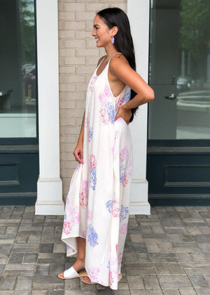 Neptune Hilo Floral Print Maxi Dress - Rose ***PREORDER***-Hand In Pocket