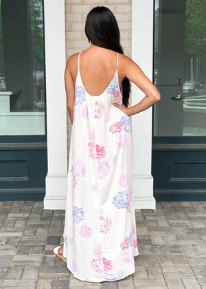 Neptune Hilo Floral Print Maxi Dress - Rose-Hand In Pocket