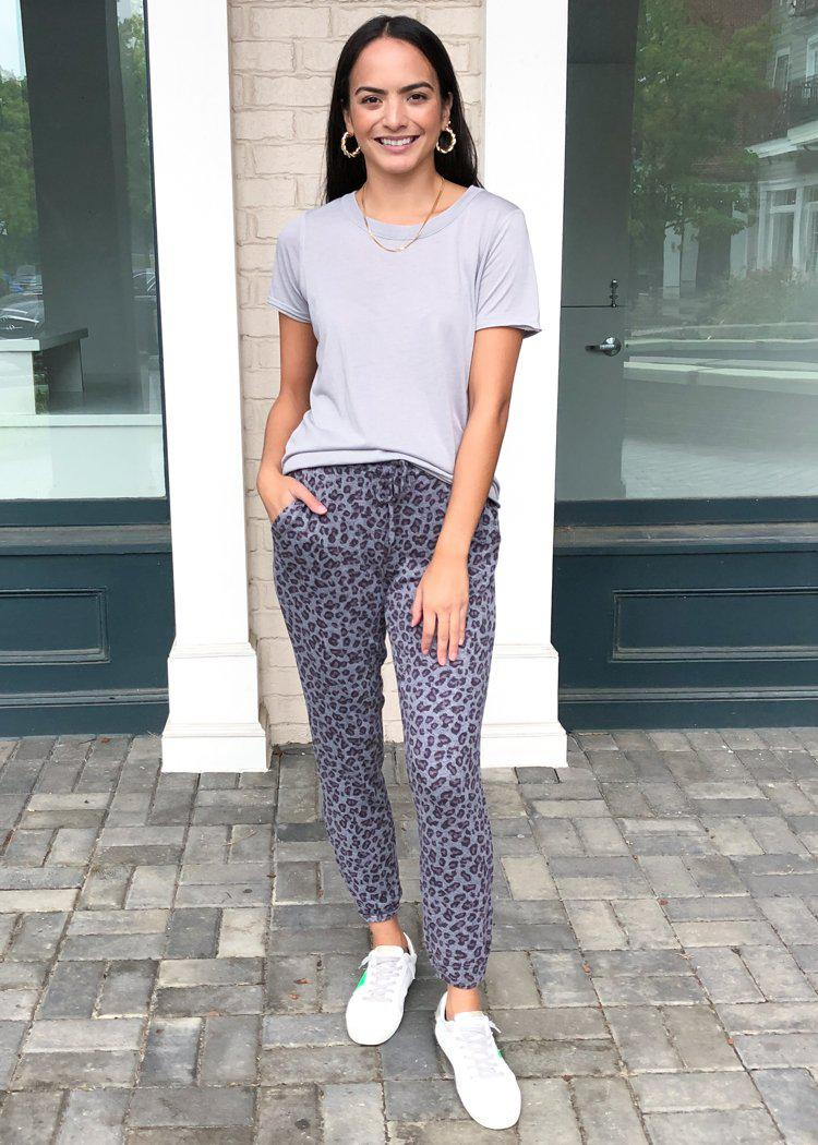 BB Dakota Meow We Roll Leopard Print Joggers-Hand In Pocket