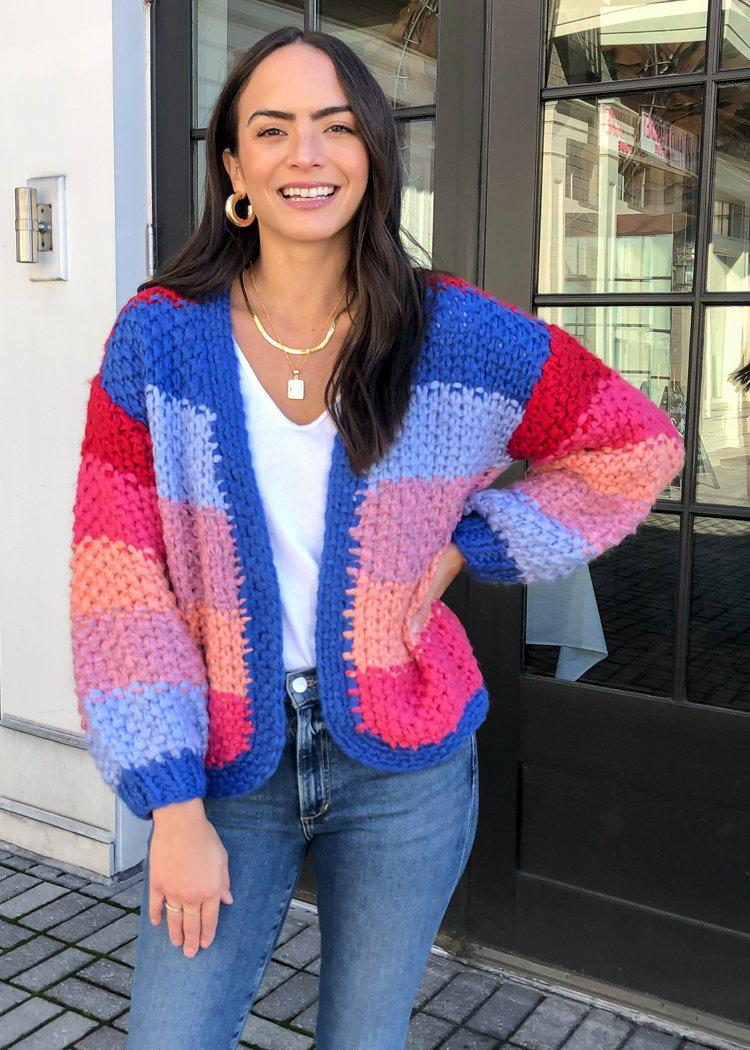 Blank NYC Catch The Rainbow Cardigan-Hand In Pocket