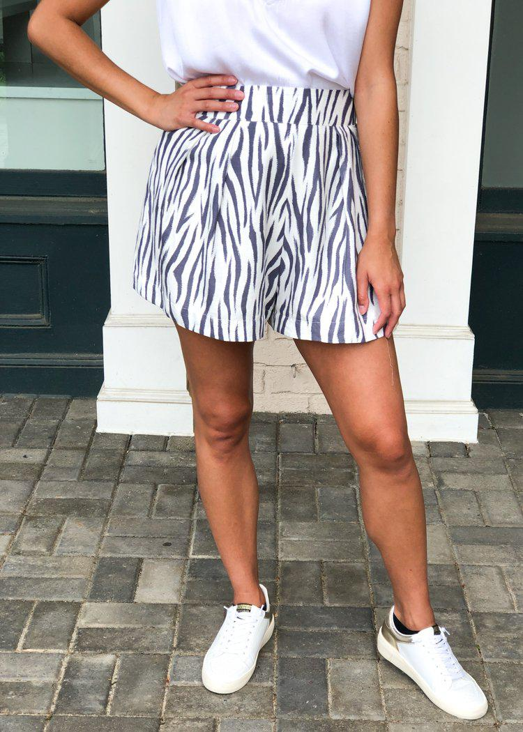 Karlie Sahara Shorts-Zebra Print ***FINAL SALE***-Hand In Pocket