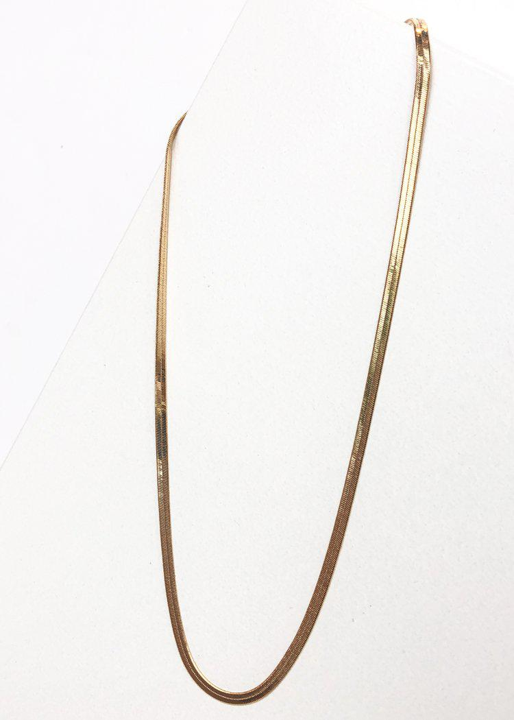 BRACHA Skinny Monte Carlo Layering Necklace - Gold-Hand In Pocket