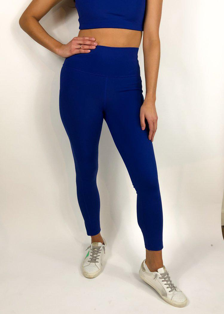 Refresh Side Pocket 7/8 Legging- Royal Blue-Hand In Pocket