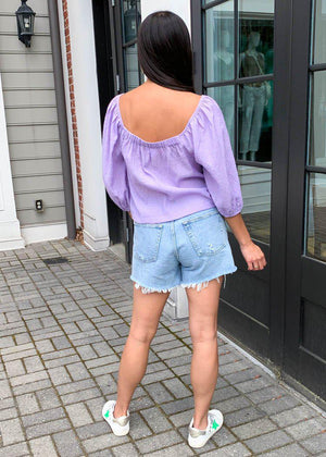 BB Dakota X Steve Madden Peregrine Top-Violet-Hand In Pocket