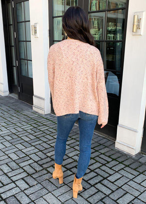 Breck Speckled Open Front Cardigan-***FINAL SALE***-Hand In Pocket