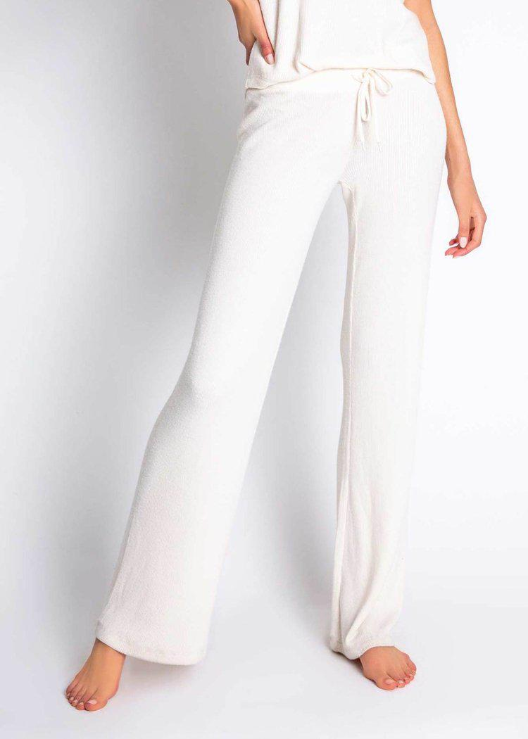PJ Salvage Textured Basics Pant- Ivory-Hand In Pocket