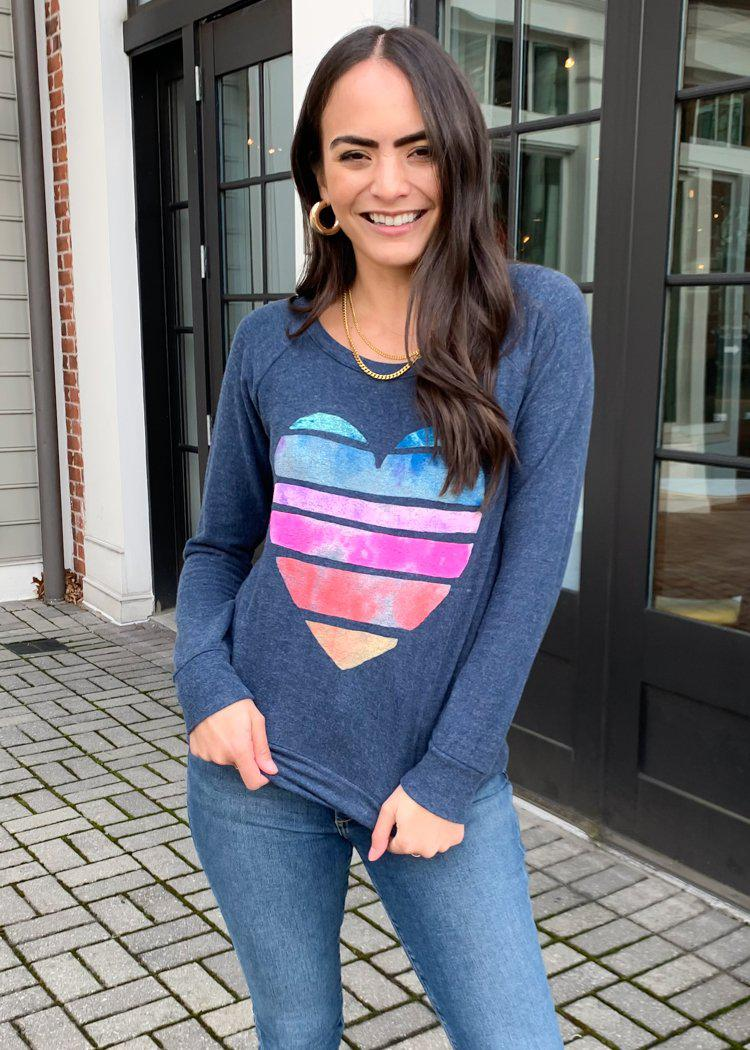 Chaser Painted Heart Sweatshirt-Hand In Pocket
