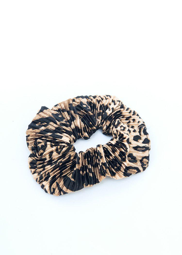 Purfect Leopard Print Scrunchie-Hand In Pocket