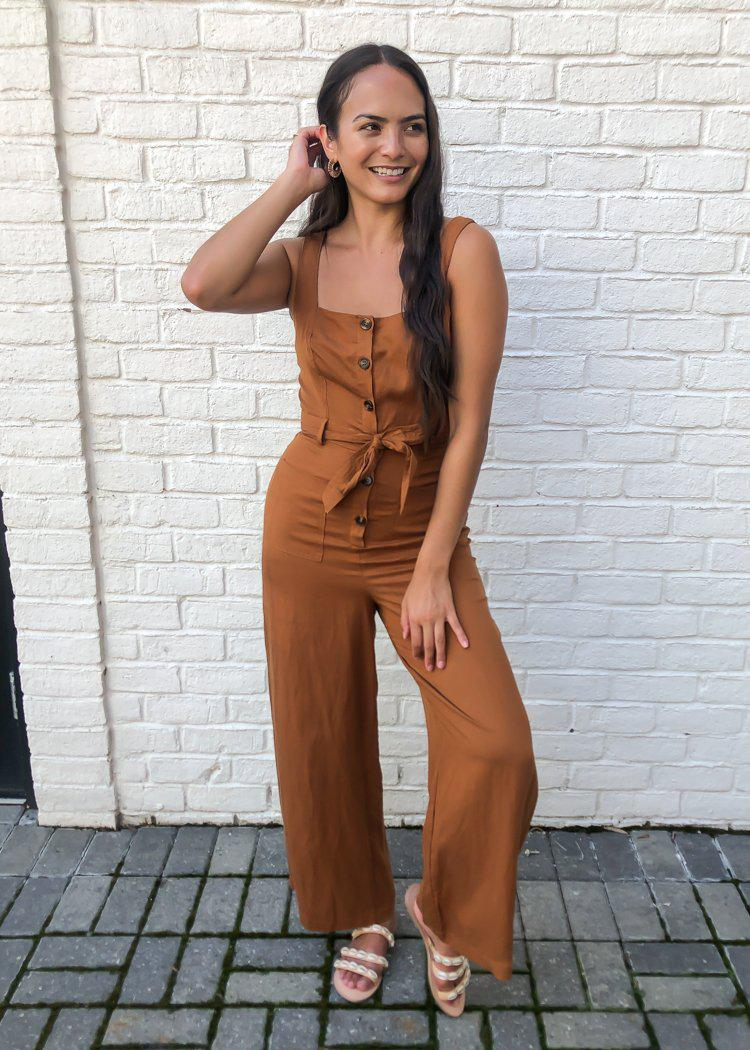 ASTR the Label Mirage Wide Leg Jumpsuit ***FINAL SALE***-Hand In Pocket