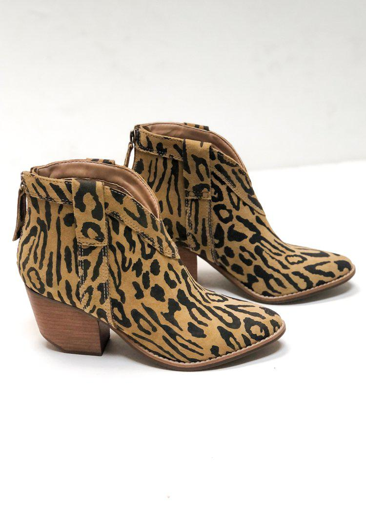 Matisse Arrow Hair Bootie - Leopard-Hand In Pocket