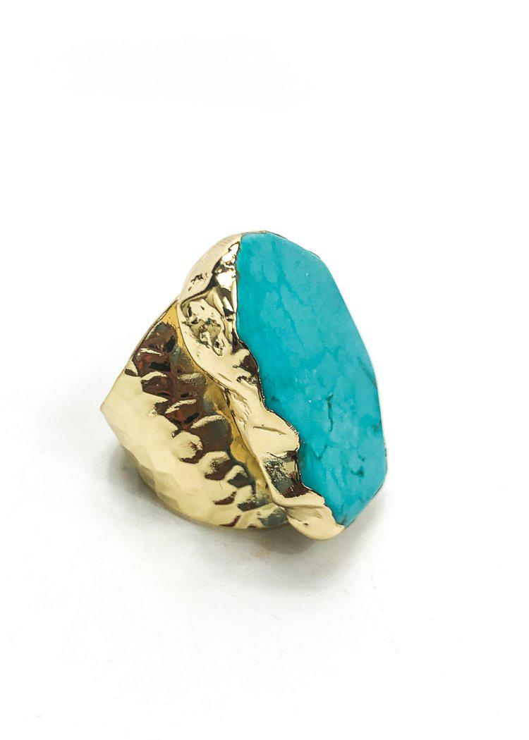 Mesa Ring- Turquoise-Hand In Pocket