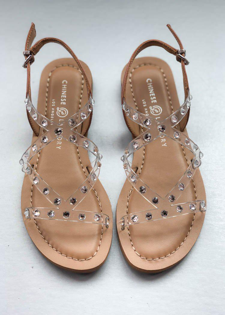 Chinese Laundry Candi Clear Strappy Sandal-Hand In Pocket