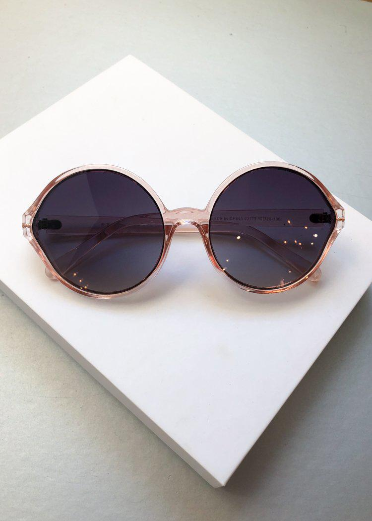 A.J. MORGAN Last Dance Round Clear Pink Sunnies-Hand In Pocket