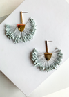 Semarang Fringe Periwinkle Drop Earrings-Hand In Pocket