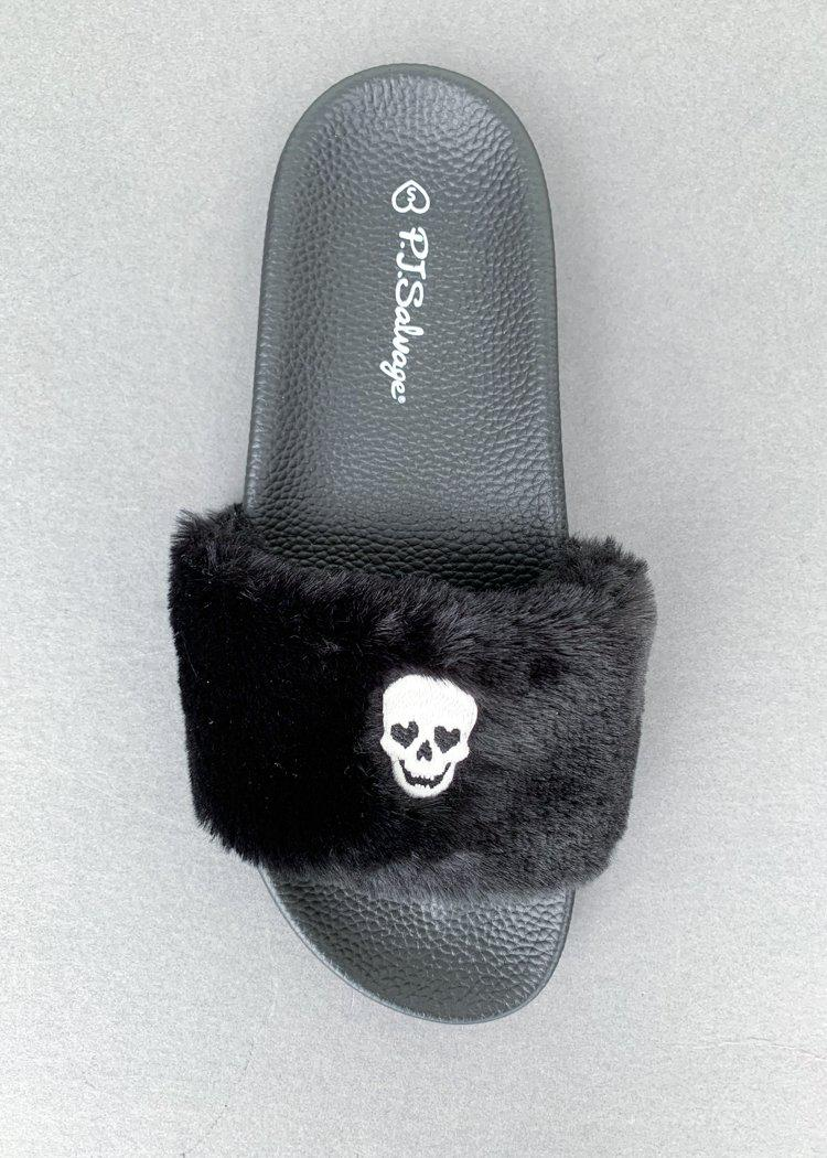PJ Salvage Skull Slipper Slides ***FINAL SALE***-Hand In Pocket