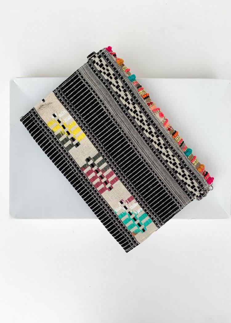 Paradise Embellished Multi Color Clutch-Hand In Pocket