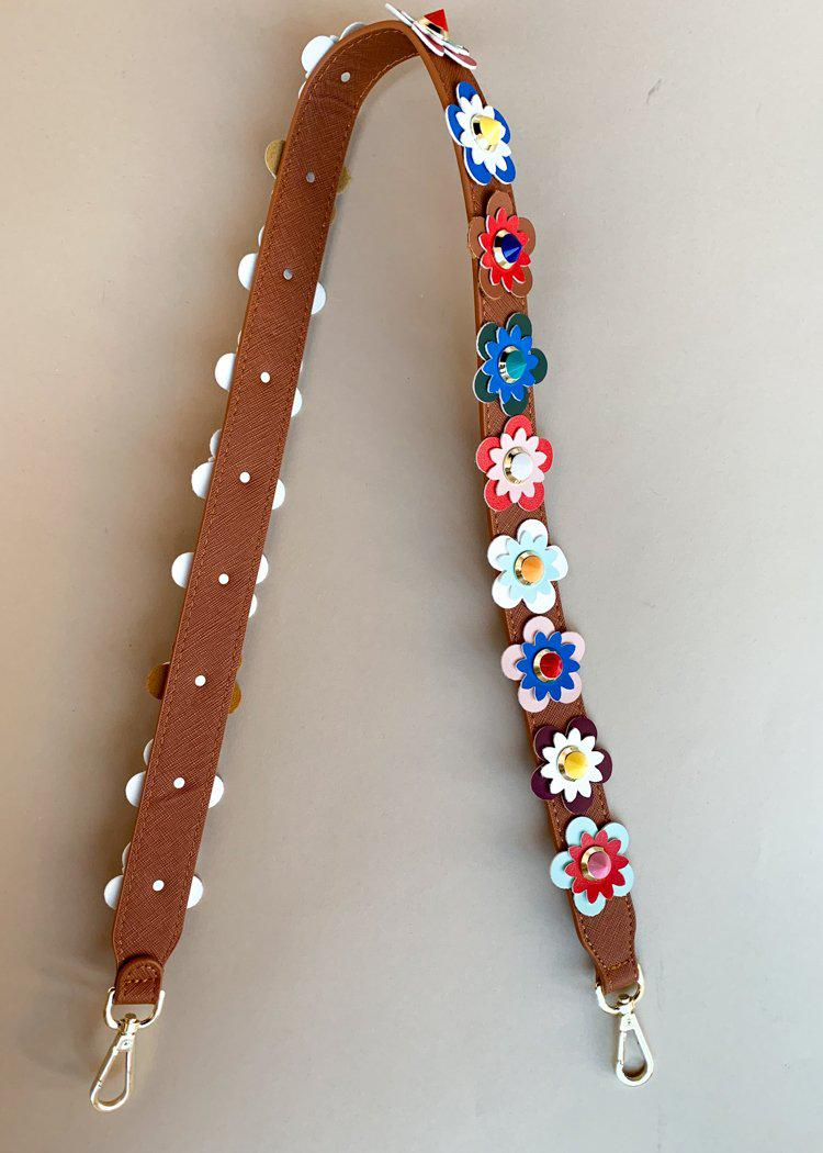 Clearly Flower Multi Saddle Bag Strap-***FINAL SALE***-Hand In Pocket