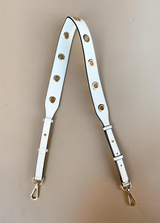 Clearly White Grommet Bag Strap-Hand In Pocket