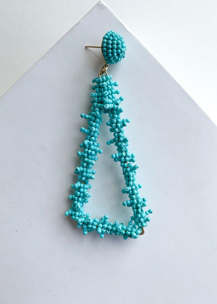 Palancar Triangular Turquoise Beaded Drops-Hand In Pocket