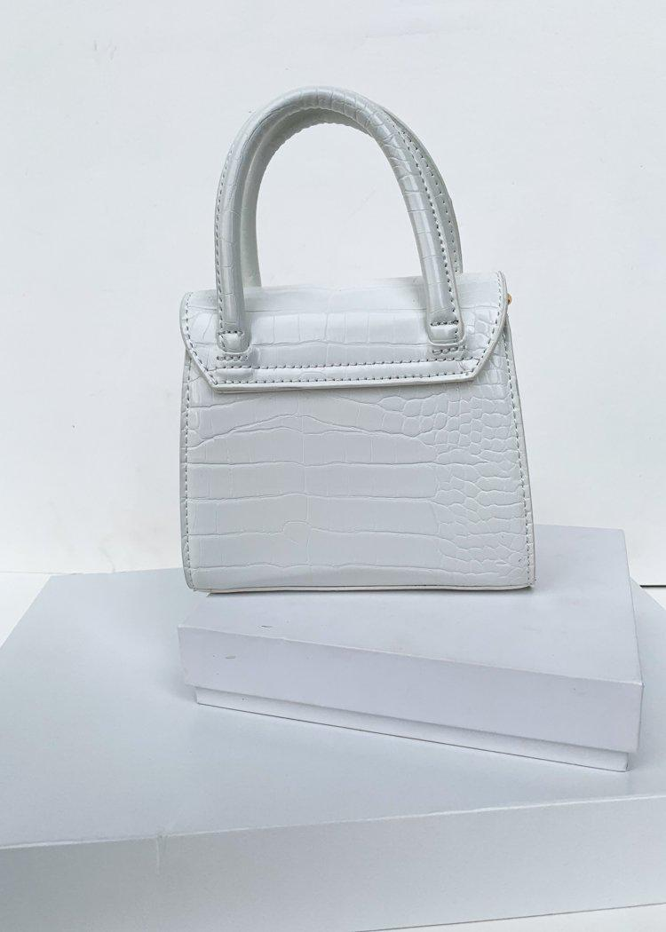 Maggie Mini Crossbody Croc Embossed Bag-***FINAL SALE***-Hand In Pocket