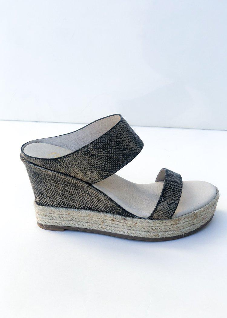 Matisse Flora Pewter Snake Wedges ***FINAL SALE***-Hand In Pocket