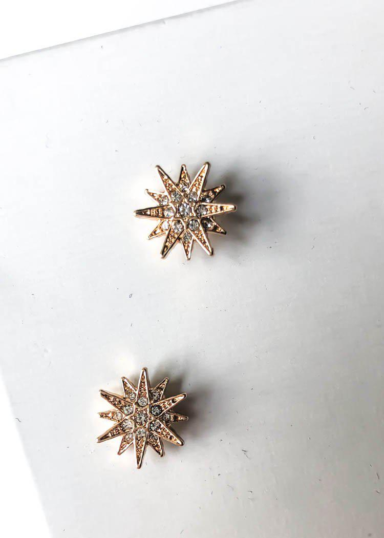 Celestial Studs - Gold-Hand In Pocket