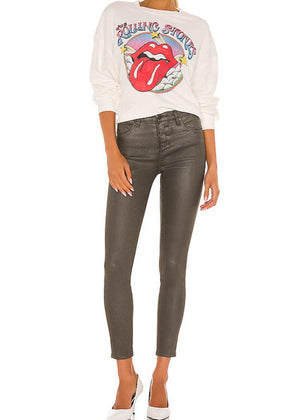 Blank NYC Great Jones Coated High Rise Skinny - ***FINAL SALE***-Hand In Pocket